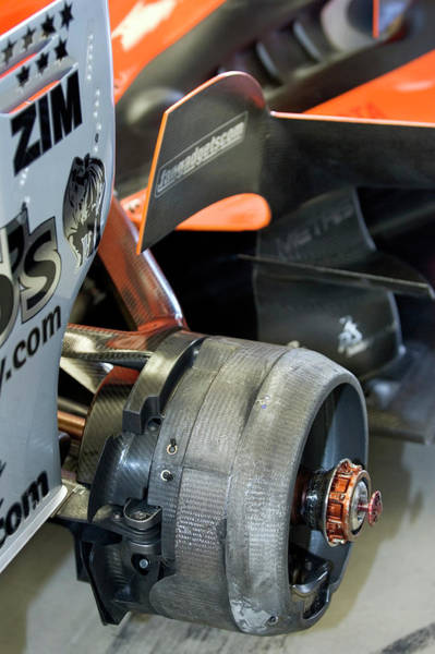 Brake Wall Art - Photograph - Racing Car Wheel Hub by Gustoimages/science Photo Library