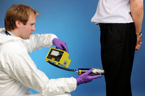 Public Health Photograph - Radiation Exposure Monitoring by Public Health England