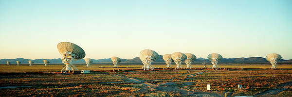 Satellite Image Wall Art - Photograph - Radio Telescopes In A Field, Very Large by Panoramic Images