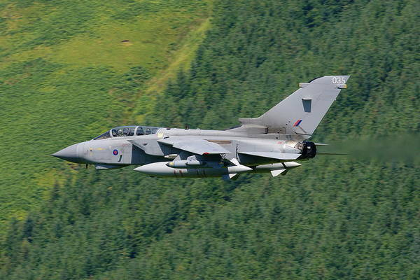 Mach Loop Photograph - Raf Tornado - Low Level by Pat Speirs