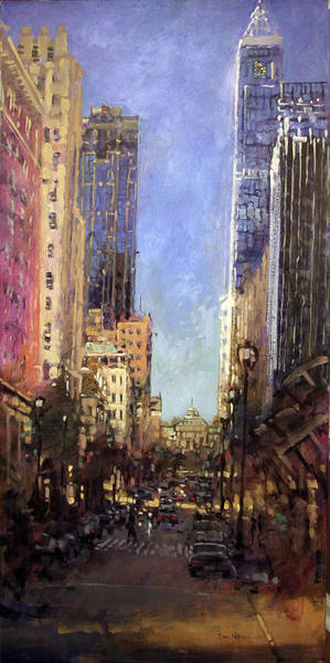 Downtown Raleigh Wall Art - Painting - Raleigh Fair And Tall by Dan Nelson
