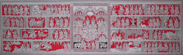 Kalamkari Painting - Ramayana by M Ande