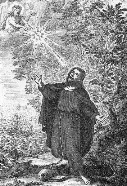 The Mystic Drawing - Ramon Llull Or Raymond Lully  Catalan by Mary Evans Picture Library