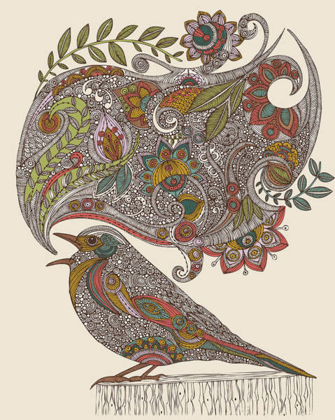 Digital Illustration Photograph - Random Talking by Valentina Ramos