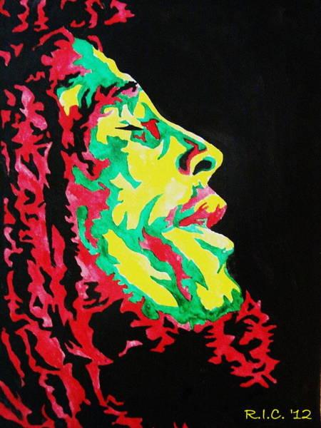 The Wailers Painting - Rastaman Positive by Richard Ian Cohen