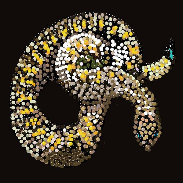 Digital Art - Rattlesnake Bedazzled by R  Allen Swezey