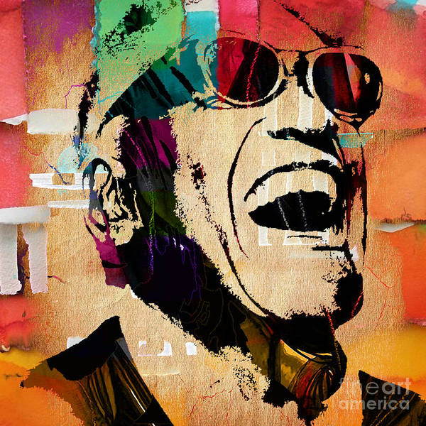 Wall Art - Mixed Media - Ray Charles Collection by Marvin Blaine