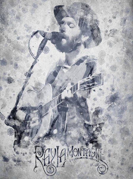 Wall Art - Digital Art - Ray Lamontagne Portrait by Aged Pixel
