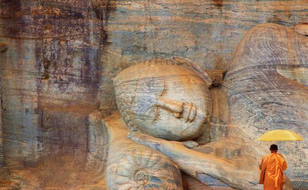 Reclining Photograph - Reclining Buddha by Grant Faint