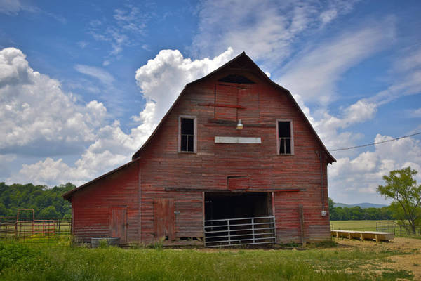Photograph - Red Barn by Skip Hunt