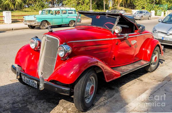 Photograph - Red Chevrolet by Les Palenik