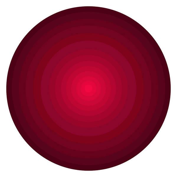 Wall Art - Painting - Red Circles by Frank Tschakert