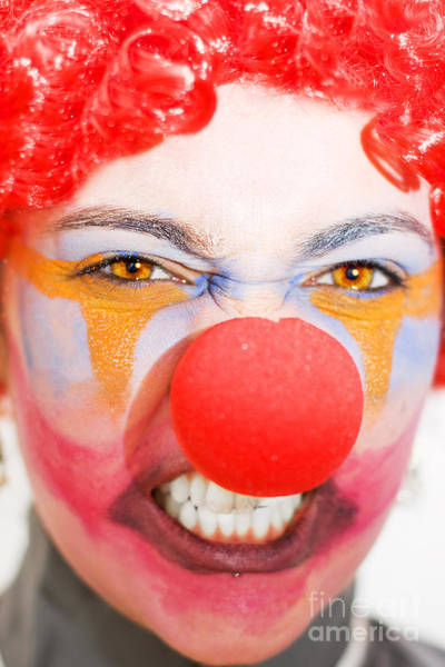 Anger Photograph - Red Clown Rage by Jorgo Photography - Wall Art Gallery