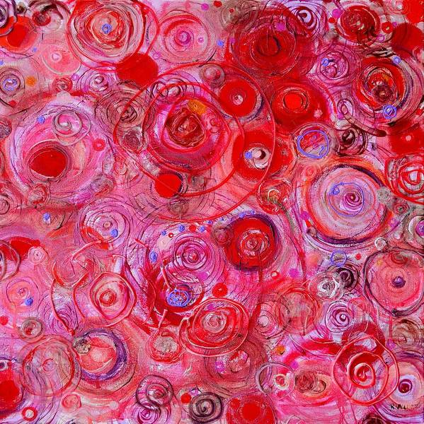 Painting - Red Counterpoint by Regina Valluzzi