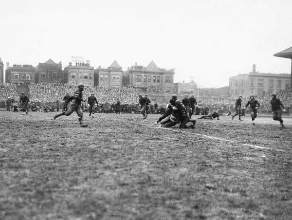 Photograph - Red Grange�۪s First Pro Game by Underwood Archives