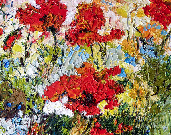 Painting - Red Poppies Provencale by Ginette Callaway