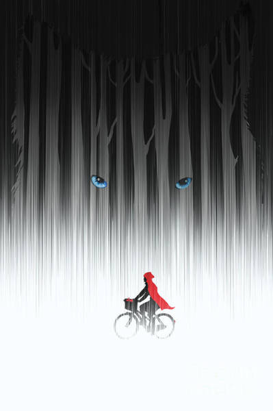 Wall Art - Painting - Red Riding Hood by Sassan Filsoof