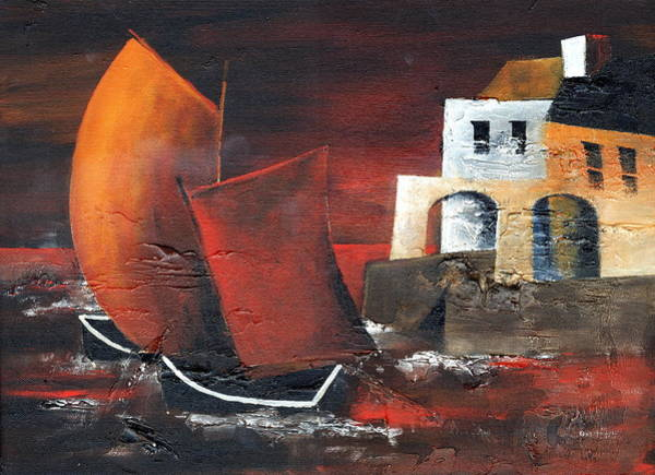 Painting - Red Sails by Val Byrne