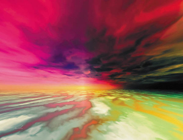 Wall Art - Painting - Red Sky by The Art of Marsha Charlebois