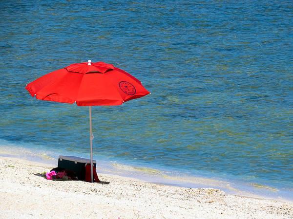 Photograph - Red Umbrella by Terry Ann Morris