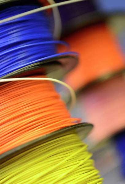 Wall Art - Photograph - Reels Of Insulated Electrical Wire by Cordelia Molloy/science Photo Library