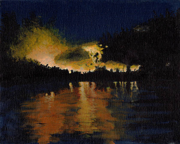 Painting - Reflecting Fire by Davend Dominick