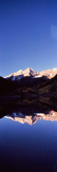 Bell Rock Photograph - Reflection Of A Mountain Range by Panoramic Images