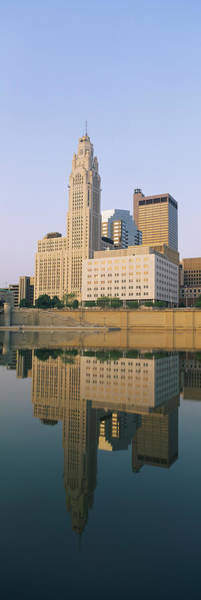 Scioto Photograph - Reflection Of Buildings In A River by Panoramic Images