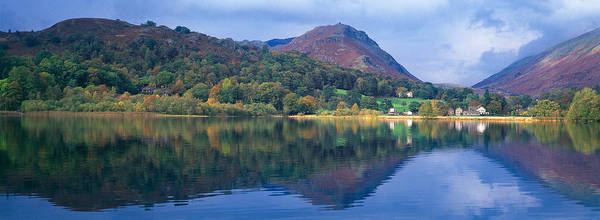 Reflection Of Hills In A Lake Art Print