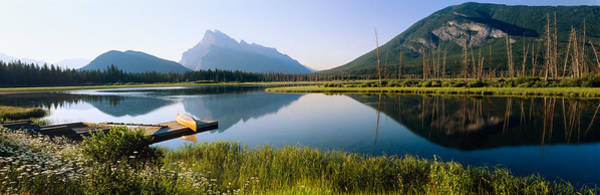 Vermillion Lakes Wall Art - Photograph - Reflection Of Mountains In Water by Panoramic Images