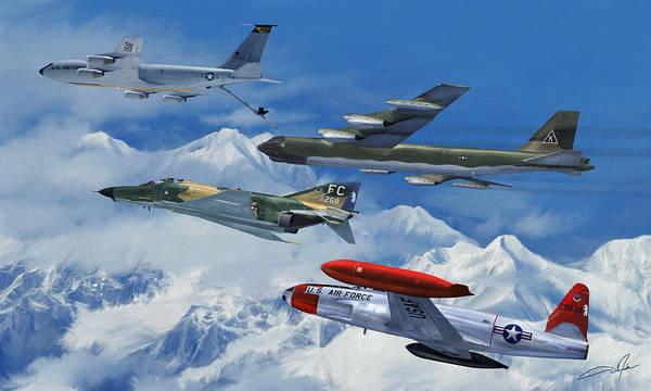 United States Air Force Digital Art - Refuel Over Alaska by Dale Jackson
