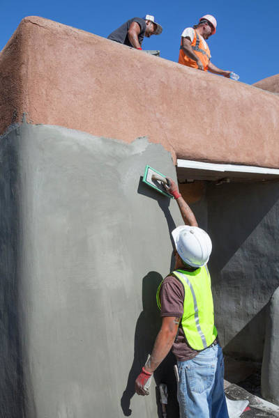 Chihuahuan Desert Photograph - Repairing White Sands Visitor Centre by Jim West
