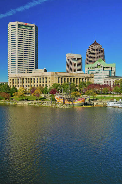 Scioto Photograph - Replica Of Columbus Ship The Santa by Panoramic Images