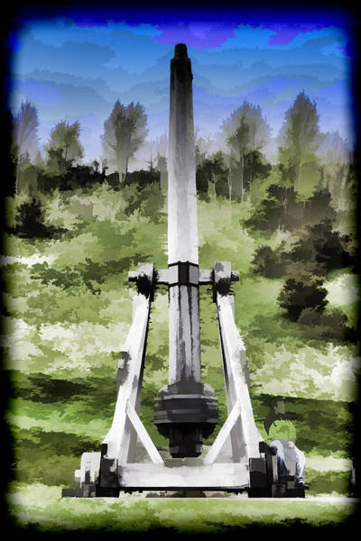 Castles Of Scotland Digital Art - Replica Of Wooden Trebuchet On The Path Leading To The Urquhart Castle by Ashish Agarwal