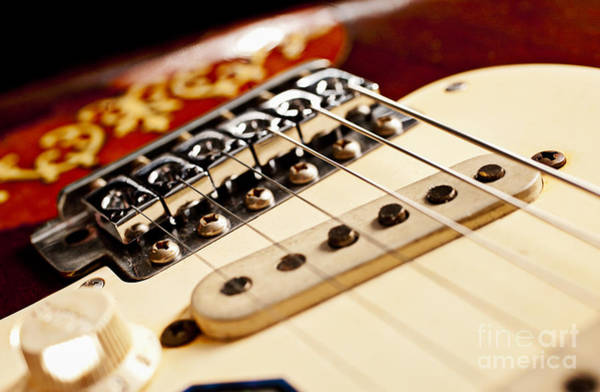 Fret Board Photograph - Replica Stevie Ray Vaughn Electric Guitar Artistic by Jani Bryson