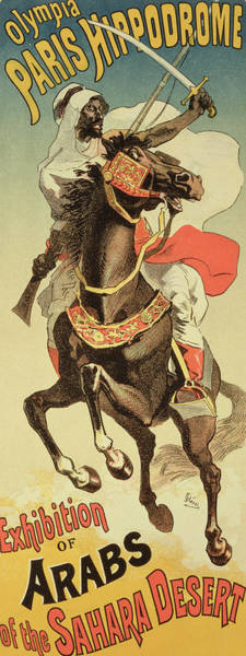 Arabian Drawing - Reproduction Of A Poster Advertising An by Jules Cheret