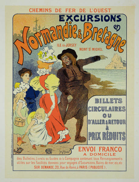 Trains Drawing - Reproduction Of A Poster Advertising by Georges Meunier