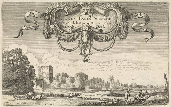 Wall Art - Painting - Resting Figures In A Landscape With Cows And A Tower by Jan Van De Velde (ii)