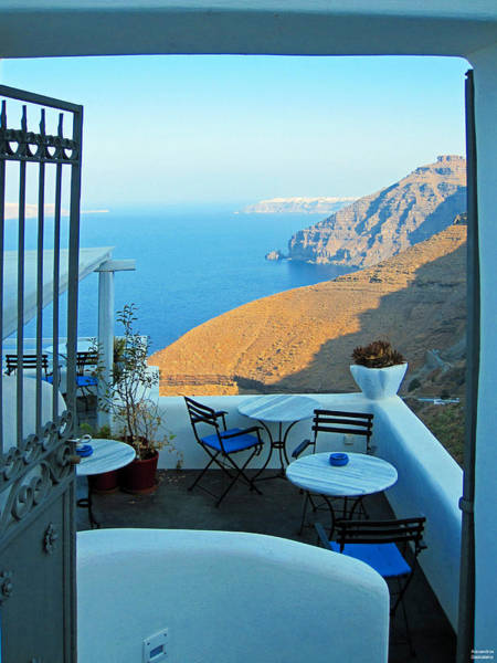 Photograph - Resting Place In Santorini by Alexandros Daskalakis