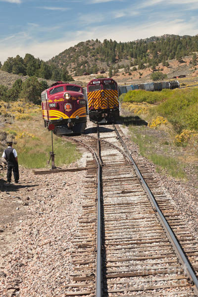 Photograph - Retrieving Diesel Electric Engine 1100 Rio Grande Scenic Rail Road by Fred Stearns