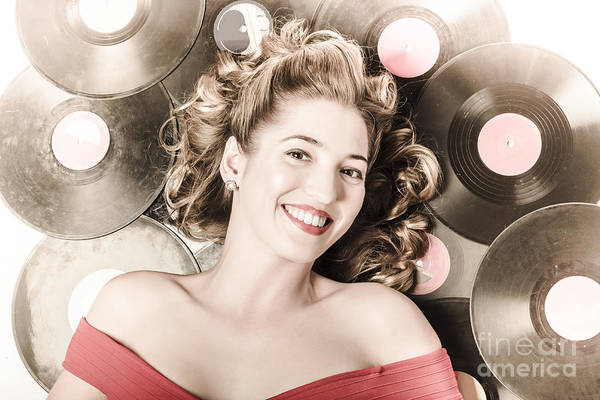 Musical Artists Photograph - Retro Pin-up Woman With Rocking Hairstyle by Jorgo Photography - Wall Art Gallery
