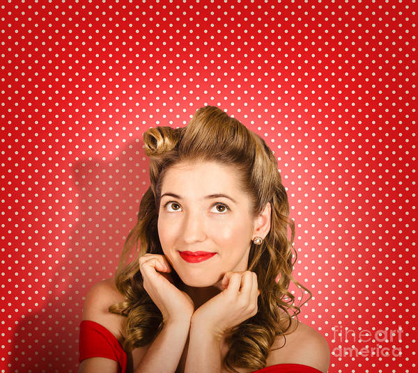 Photograph - Retro Pinup Model. Beauty And Fashion Copyspace by Jorgo Photography - Wall Art Gallery