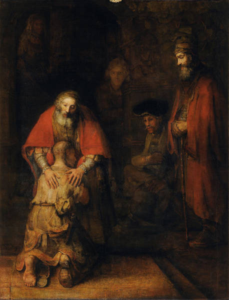 Son Painting - Return Of The Prodigal Son by Rembrandt van Rijn