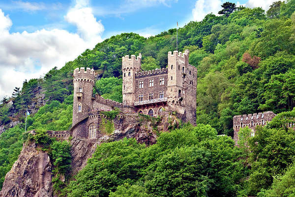Archaeology Photograph - Rheinland-pflaz, Germany, Castle by Miva Stock