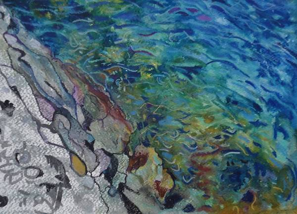 Camogli Painting - Rapture On The Lonely Shore by Alberta Boato