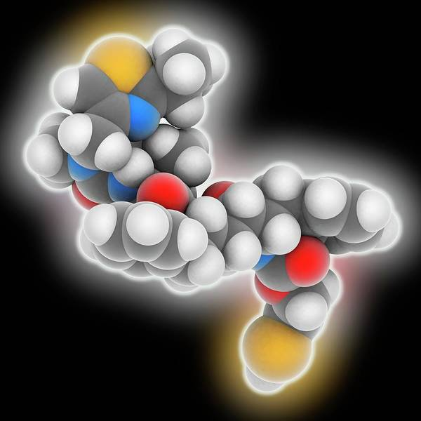 Syndrome Wall Art - Photograph - Ritonavir Drug Molecule by Laguna Design