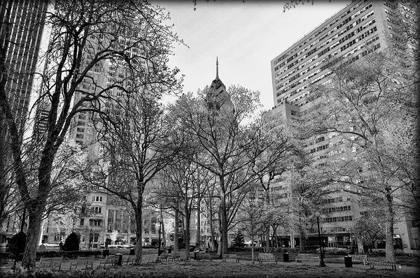 Rittenhouse Square Wall Art - Photograph - Rittenhouse Square In Black And White by Bill Cannon