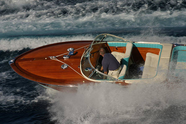 Outboard Engine Photograph - Riva Aquarama Special by Steven Lapkin