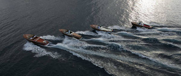 Riva Runabouts Aerial Art Print