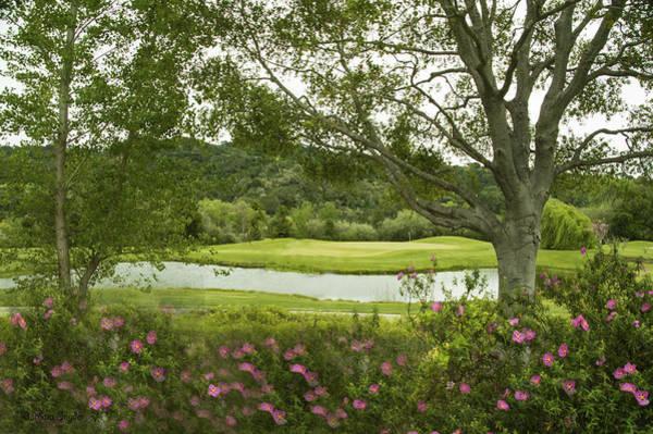 Digital Art - River Course At Alisal Solvang California 2 by Barbara Snyder
